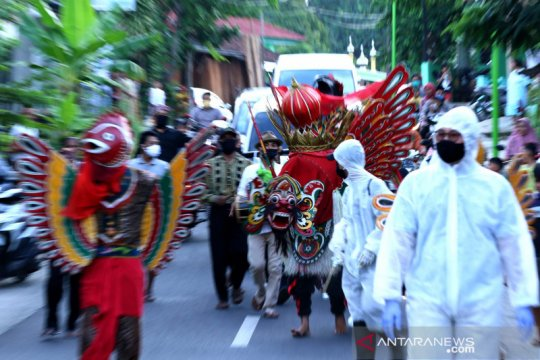 Ritual barong ider bumi suku Osing saat wabah COVID-19