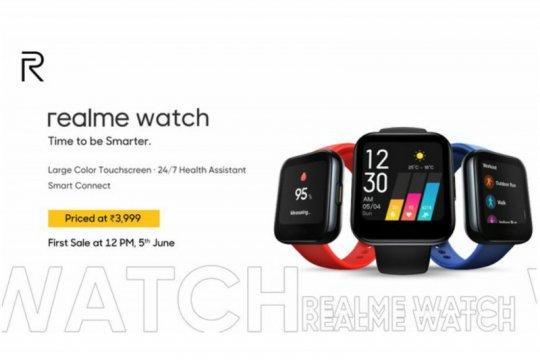 Realme luncurkan jam tangan pintar perdana