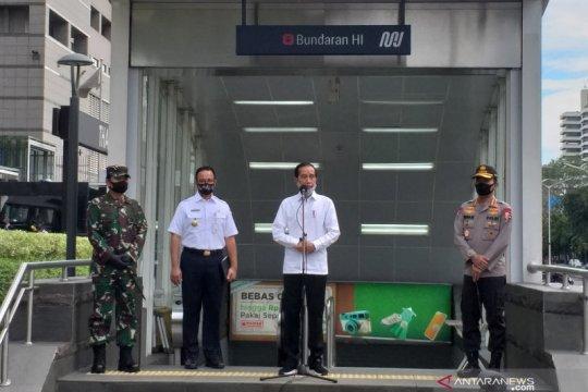 Presiden kerahkan TNI-Polri secara masif, minta warga patuhi PSBB