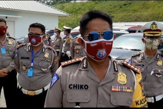 Polda Lampung lakukan penyekatan kendaraan pada arus balik Lebaran