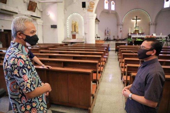 Gubernur Jateng minta pemimpin gereja sosialisasikan PPKM Jawa-Bali