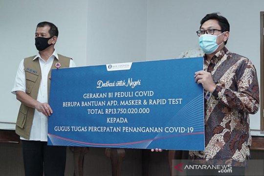 BI beri bantuan alat kesehatan senilai Rp13,75 miliar