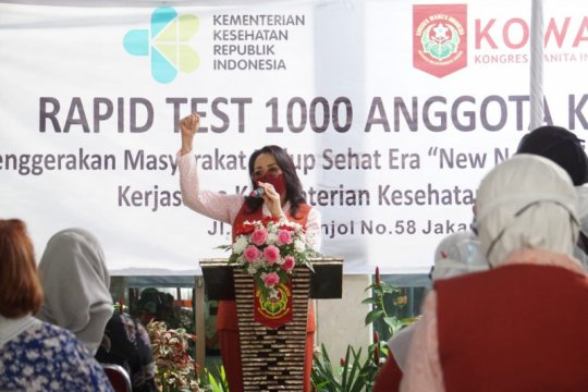 1.000 anggota Kowani ikuti tes cepat COVID-19