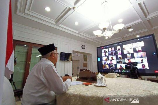 Wapres Ma'ruf gelar halalbihalal virtual dengan jajaran Setwapres