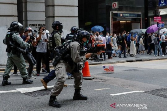Polisi Hong Kong tangkap dua anggota parlemen terkait protes 2019