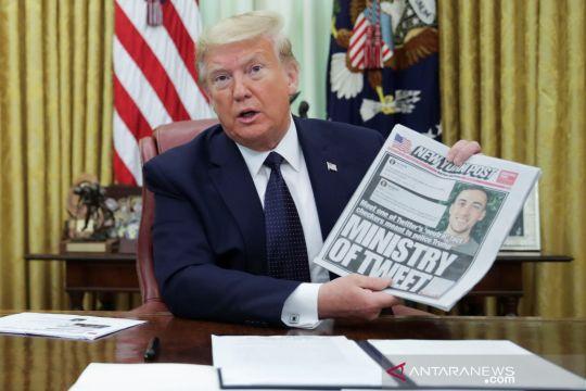Trump keluarkan perintah eksekutif untuk perusahaan sosial media usai perseteruan dengan Twitter