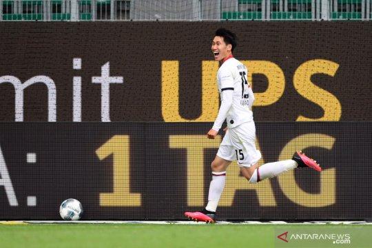 Daichi Kamada amankan kemenangan Frankfurt 2-1 di Wolfsburg