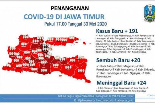 Gugus Tugas: Pasien COVID-19 di Surabaya Raya masih tertinggi