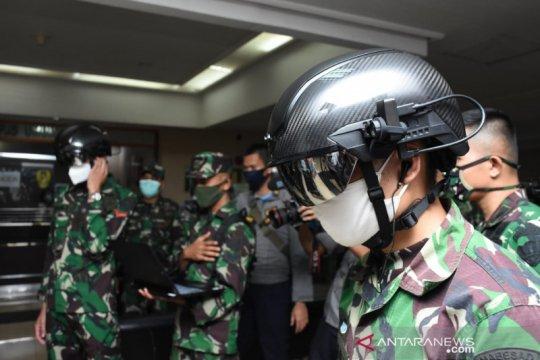"Cegah COVID-19, TNI AD gunakan ""Helmet Thermal KC Wearable"""