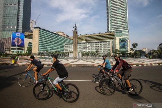 Ada pemisahan jalur saat CFD Jakarta, Minggu