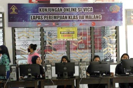 Lapas Wanita Malang melepas rindu secara virtual
