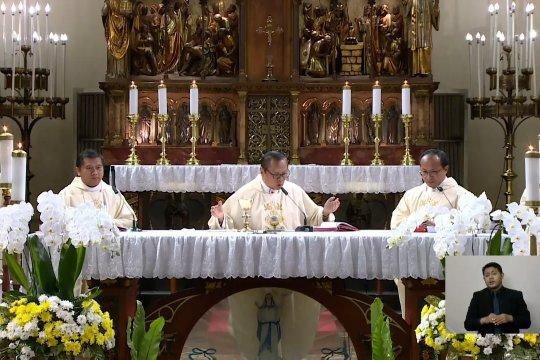 Gereja Katedral Jakartagelar secara daring ibadah Kenaikan Isa Almasih