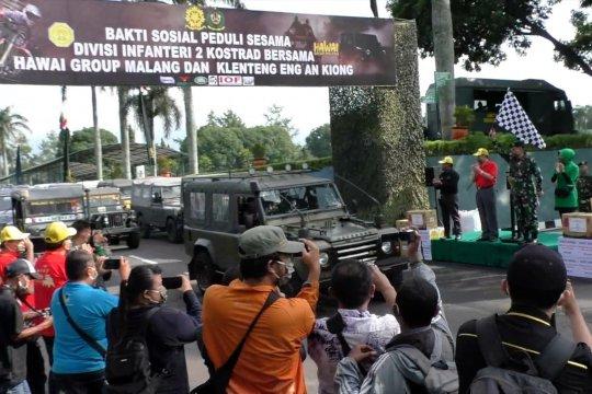 Ketika TNI bagikan bansos hingga ke lereng Gunung Arjuno