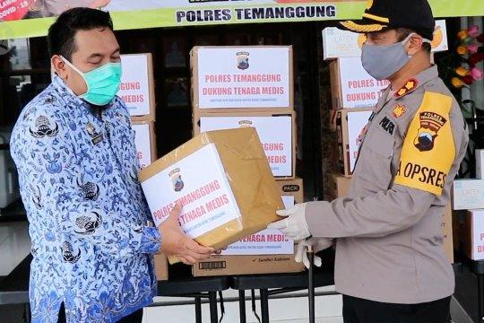 Polres Temanggung salurkan APD dan pelindung wajah