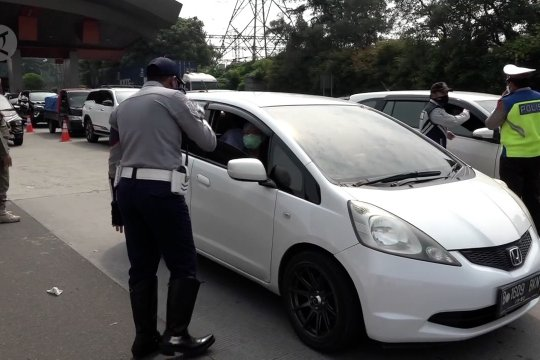 161kendaraan ditolak masuk DKI Jakarta