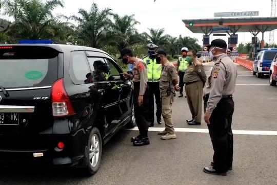 Gerbang Tol Kertajati arah Jakarta ditutup