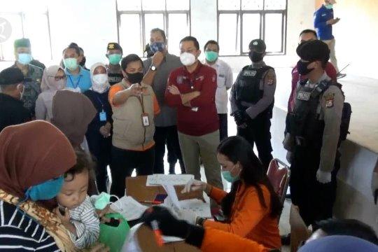 Mensos pantau penyaluran bantuan sosial tunai di Kabupaten Serang