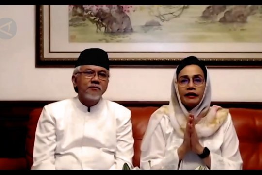 Menkeu berhalalbihalal Idul Fitri secara daring
