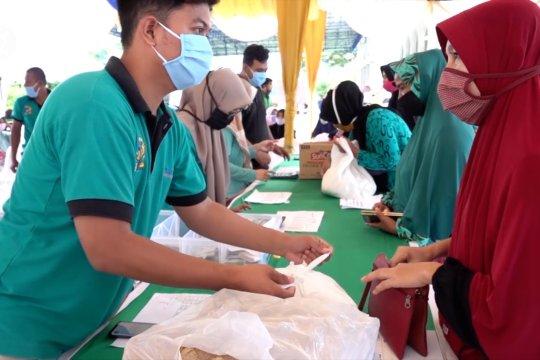 Patuhi protokol kesehatan, pasar murah digelar di seluruh Aceh