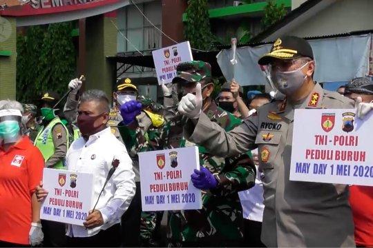 Aksi May Day di Semarang ditengah pandemi COVID-19