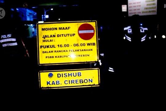 Maksimalkan PSBB, jalan penghubung Cirebon ditutup