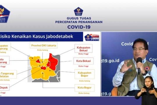 Empat wilayah risiko tinggi Corona di Jabodetabek