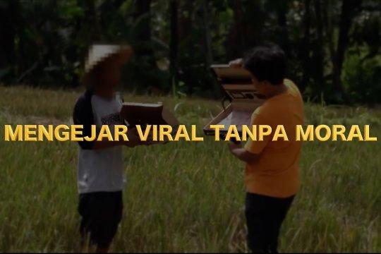 Mengejar viral tanpa moral