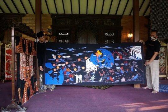 Selembar kain batik corona seharga Rp50 juta