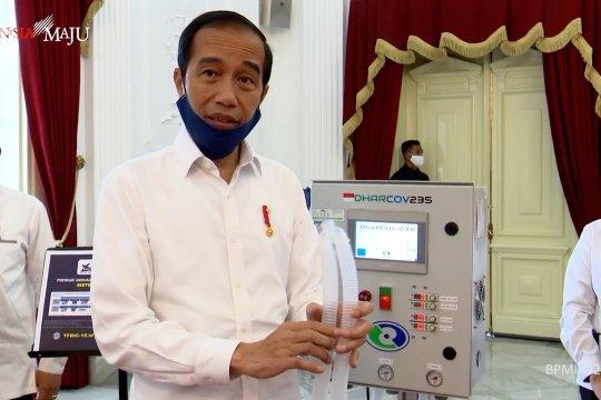 Jokowi pamer alkes karya anak bangsa untuk tangani COVID-19