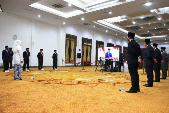 Gubernur Jatim ikuti upacara Hari Lahir Pancasila virtual