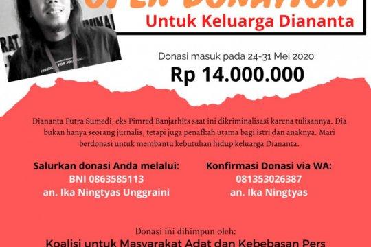 Aktivis galang dana untuk bantu keluarga jurnalis yang ditahan polisi
