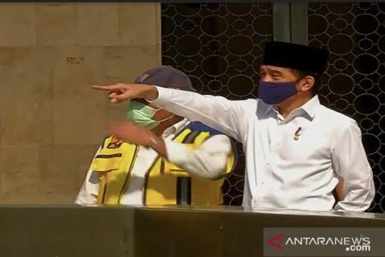 Presiden Jokowi tinjau kesiapan masjid Istiqlal terapkan normal baru