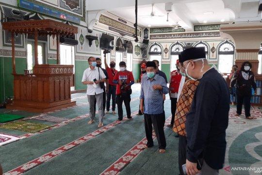JK shalat ashar berjamaah di Masjid Agung Al Azhar