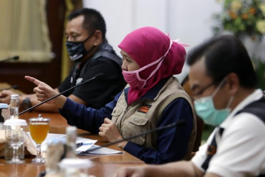 Tambahan kasus tertinggi hari ini Surabaya dan Kabupaten Probolinggo