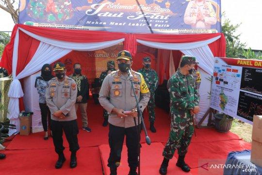 Kapolda Metro Jaya tinjau pos penyekatan di Kabupaten Bekasi