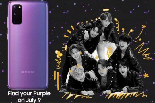 Samsung bakal rilis Galaxy S20+ edisi terbatas, kolaborasi dengan BTS