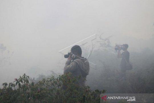 Lahan gambut terbakar di Aceh Barat belum bisa dipadamkan