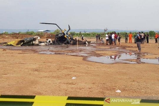 Helikopter jatuh di Kawasan Industri Kendal