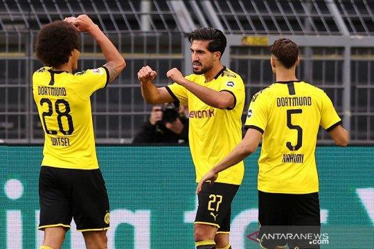 Gol tunggal Emre Can pelihara asa juara Dortmund