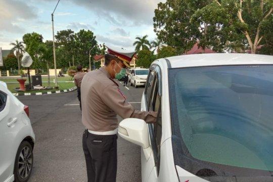 Ditlantas Polda Babel tertibkan kendaraan milik anggota
