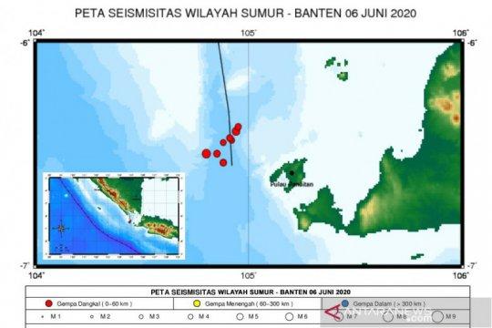 Dua gempa bumi guncang Selat Sunda akibat aktivitas sesar lokal