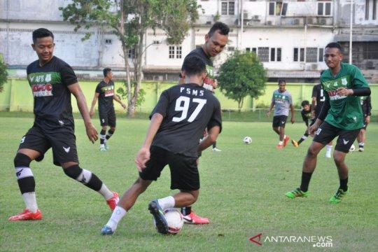 Latihan perdana PSMS Medan saat pandemi COVID-19