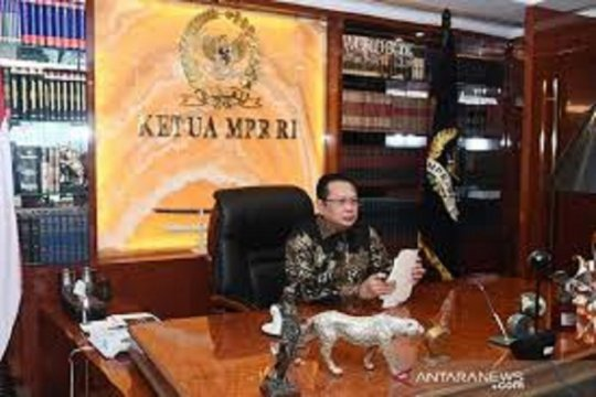 Pimpinan MPR-Menhan bahas PPHN dan RUU HIP