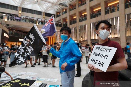 Polisi Hong Kong tangkap 53 orang saat unjuk rasa prodemokrasi