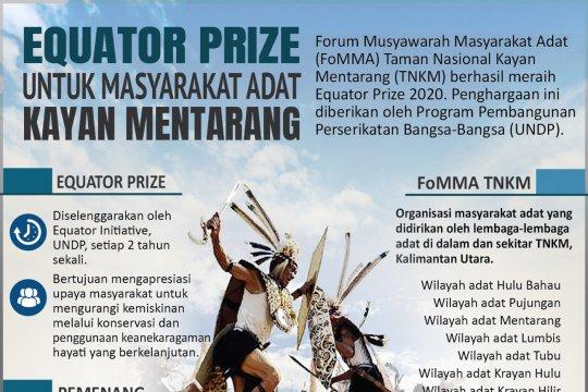 Equator Prize 2020 untuk masyarakat adat Kayan Mentarang