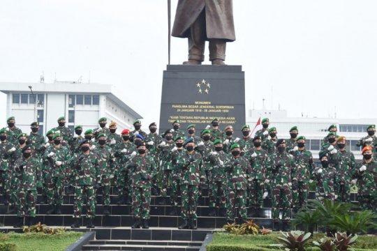 Panglima TNI terima laporan kenaikan pangkat 83 perwira tinggi