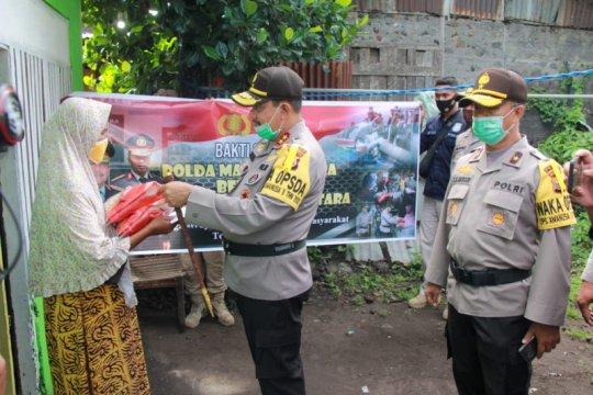 Polda Maluku Utara gandeng pers salurkan bantuan beras