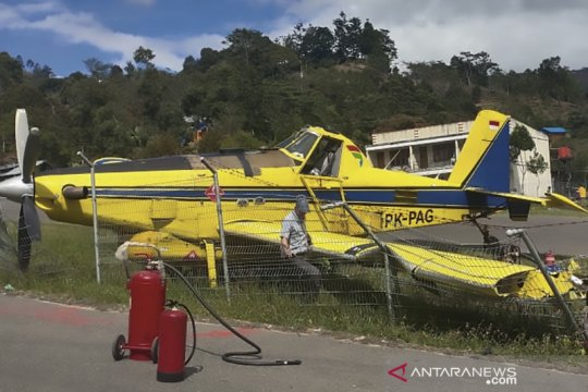 Pesawat pengangkut BBM tergelincir di Bandara Karubaga Tolikara