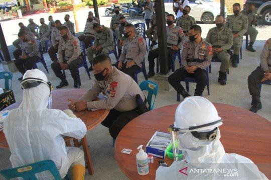Rapid test personel Brimob di Nagan Raya Aceh