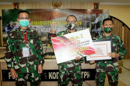 Penerangan Kodam XII/Tpr juara satu lomba lagi karya jurnalistik TMMD